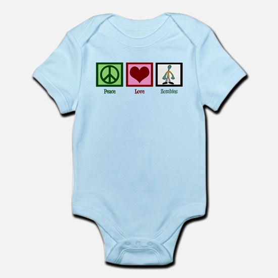 Peace Love Zombies Infant Bodysuit