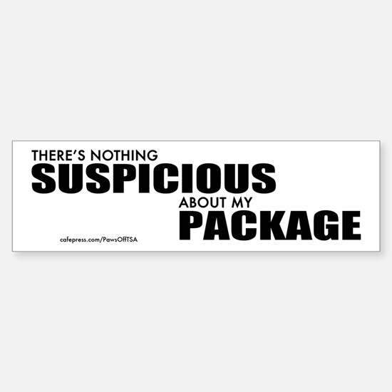 TSA Suspicious Package Sticker (Bumper)