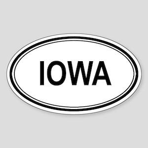 Iowa Euro Oval Sticker
