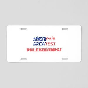 America's Greatest Phleboto Aluminum License Plate