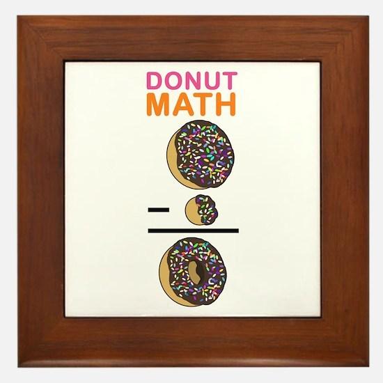 Donut Math Framed Tile