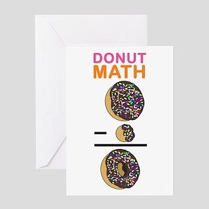 Donut Math Greeting Card