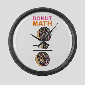 Donut Math Large Wall Clock