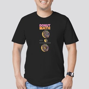 Donut Math Men's Fitted T-Shirt (dark)