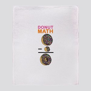 Donut Math Throw Blanket