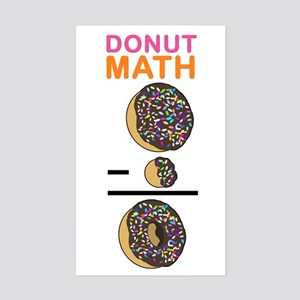 Donut Math Sticker (Rectangle)