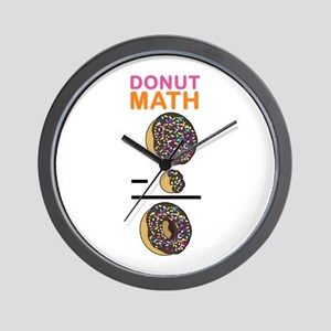 Donut Math Wall Clock