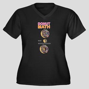 Donut Math Women's Plus Size V-Neck Dark T-Shirt