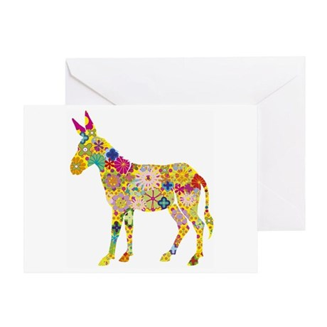 Greeting Card - Flower Donkey