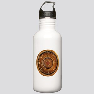 Compass Rose in Brown Stainless Water Bottle 1.0L