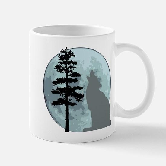 Gray Wolf Moon Mug