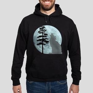 Gray Wolf Moon Hoodie (dark)