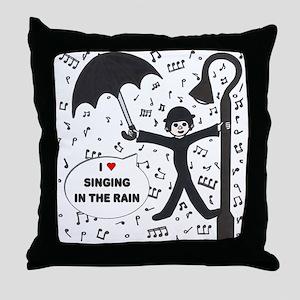'Singing in the Rain' Throw Pillow