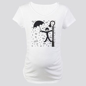'Singing in the Rain' Maternity T-Shirt