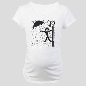 'Singing in the Rain' Maternity T-Shirt
