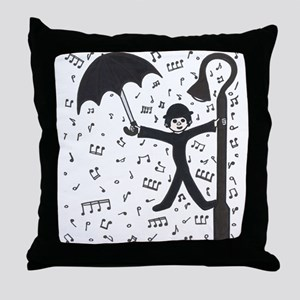 'Singing in the Rain' Throw Pillow