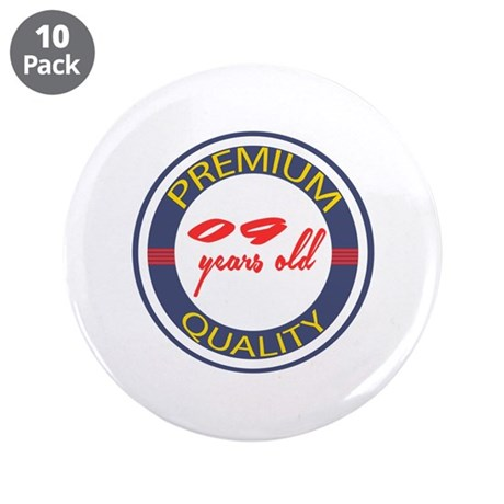 "Premium Quality 09 3.5"" Button (10 pack)"