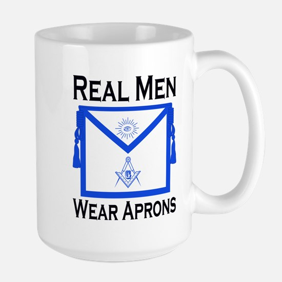 Real Men Wear Aprons Large Mug