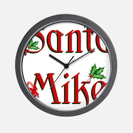 Santa Mike Wall Clock