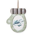 Beluga Whale Art Mitten Ornament