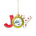 Beluga Whale Art Joy Ornament