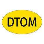 Don't Tread on Me Sticker (Oval 50 pk)