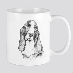 Basset Hound drawing Mug