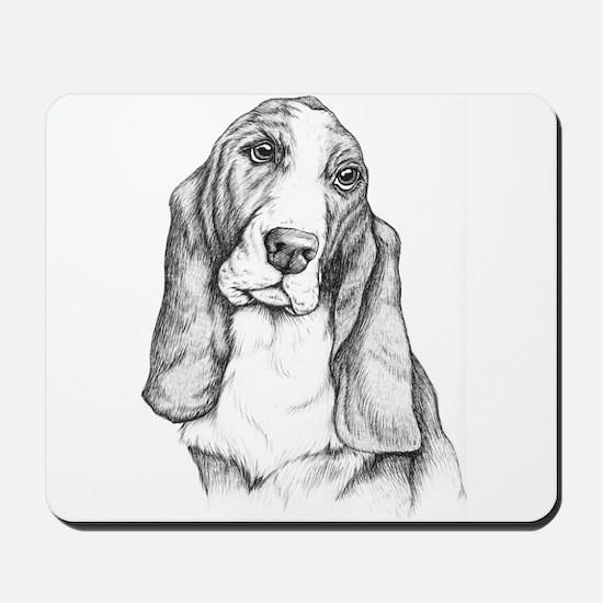 Basset Hound drawing Mousepad
