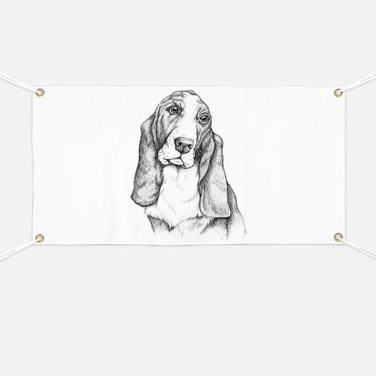 Basset Hound drawing Banner