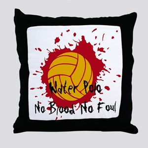 No Blood No Foul Throw Pillow