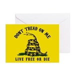 Don't Tread on Me Greeting Cards (Pk of 20)