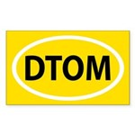 Don't Tread on Me Sticker (Rectangle 50 pk)