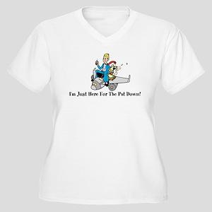 Pat Down Women's Plus Size V-Neck T-Shirt
