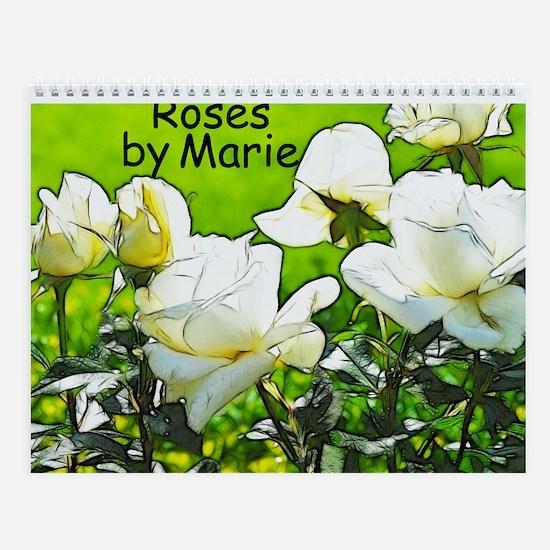 Artistic Rose Wall Calendar