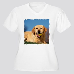 YELLOW LAB Women's Plus Size V-Neck T-Shirt