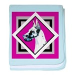 Harlequin Great Dane design baby blanket