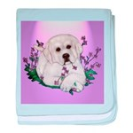 Great Pyranees Pup baby blanket