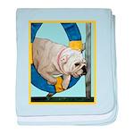 Bulldog Agility Design baby blanket