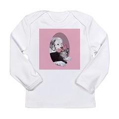 Clumber Spaniel & cat Long Sleeve Infant T-Shirt