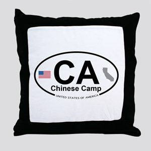 Chinese Camp Throw Pillow