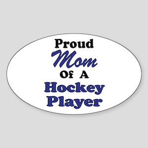 Mom Hockey Player Sticker (Oval)