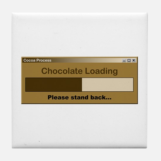 Chocolate Loading Tile Coaster