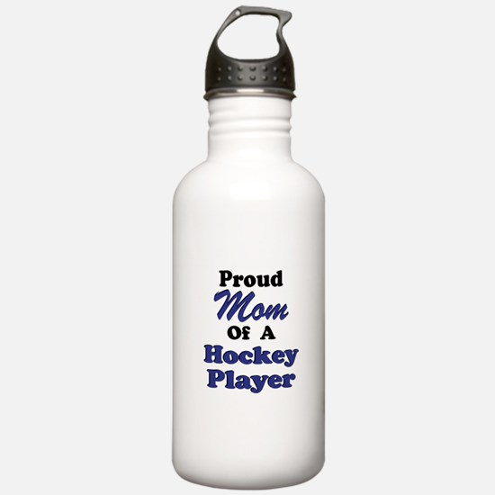 Proud Mom of a Hockey Player Water Bottle