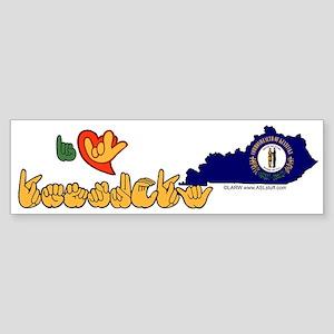 ILY Kentucky Sticker (Bumper)
