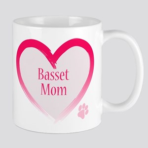 Basset Pink Heart Mug