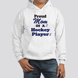 Mom 2 Hockey Players Hooded Sweatshirt