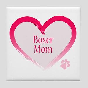 Boxer Pink Heart Tile Coaster
