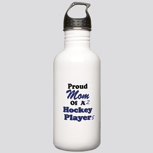 Mom of 2 Hockey Players Stainless Water Bottle 1.0