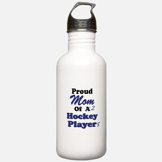 Mom of 2 Hockey Players Water Bottle