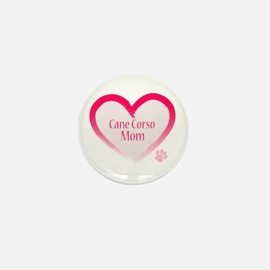 Cane Corso Pink Heart Mini Button
